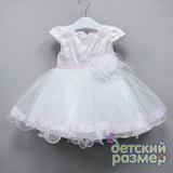 Платье 74-92 (нежные розовые блёстки)