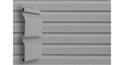 """Виниловый сайдинг Гранд Лайн корабельная доска 3.6 D 4,4"""" серый"""