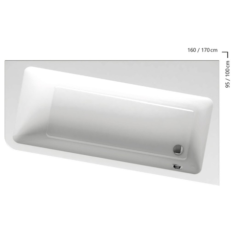 Акриловая ванна Ravak 10° 160х95 P белая