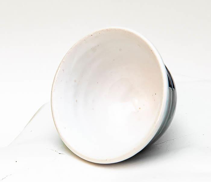 CUP114 Пиала ручной работы с глазурью синего цвета фото 05