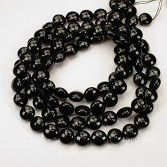 5860 Хрустальный жемчуг Сваровски Crystal Mystic Black круглый плоский 10 мм