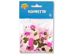 Конфетти Круги тишью,фол Роз/Золот 10грG