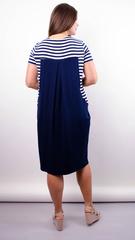 Роксолана лето. Стильное платье для больших размеров. Синий.