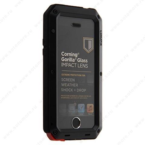 Чехол-противоударный LUNATIK для Apple iPhone SE/ 5s/ 5 металлический бронированый черный
