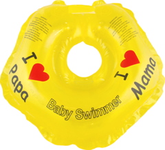 Baby-Krug. Детский круг для купания на шею, 0-24 мес желтый