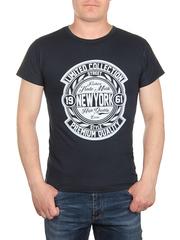 0722-4 футболка мужская, темно-синяя