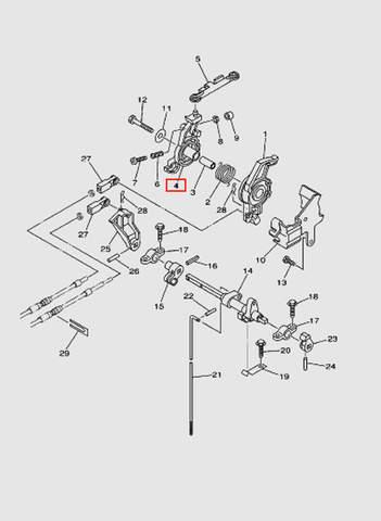Рычаг контроля магнето  для лодочного мотора T40 Sea-PRO (16-4)