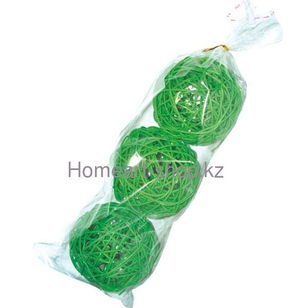 Декоративные шары 9 см * 3 шт. ;