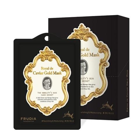 Маска для лица экстрактом икры и золотом Омолаживающая Frudia Royal de Caviar Gold Mask 10x27мл