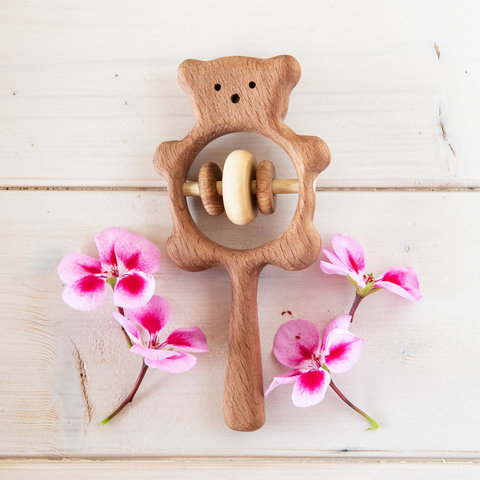 Погремушка Медвежонок от Леснушки