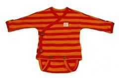 Боди-кимоно ManyMonths ECO 50-56/62 см, Красные/Оранжевые полосы