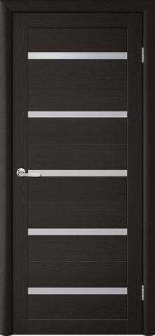 Дверь TrendDoors TDT-2, стекло белое матовое, цвет лиственница тёмная, остекленная