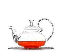 Чайник заварочный, стеклянный, с фильтром, Георгин 600 мл