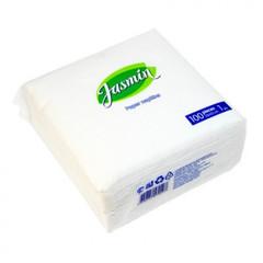 Салфетки Jasmin 1 сл. 33х33 белые 100 шт./уп.