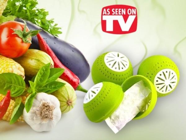 Товары для кухни Поглотитель запаха для холодильника Fridge Balls - 3 шт. fridgeballs-neobhodim-v-vashem-holodilnike.jpg