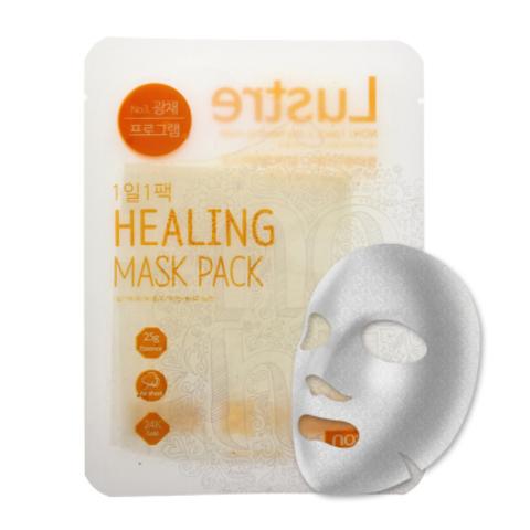 Ежедневная тканевая маска для сияния кожи с экстрактом лимона, 28 г / NO:HJ Healing Mask Pack №3 Lustre