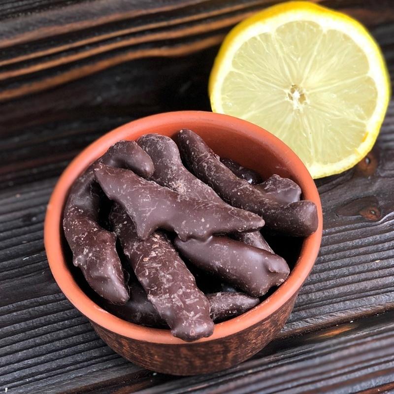 Фотография Лимонная корочка в темном шоколаде, 2 кг купить в магазине Афлора