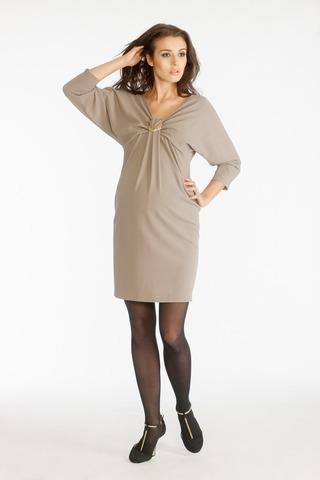 Платье для беременных 05394 бежевый