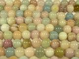 Нить бусин из бериллов, шар гладкий 12 мм