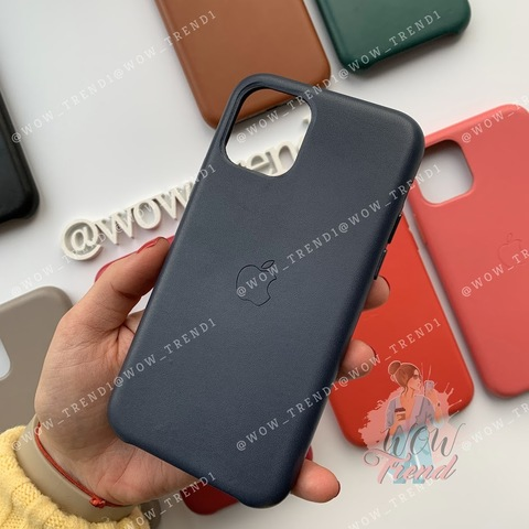 Чехол iPhone 11 Pro Leather Case /midnight blue/