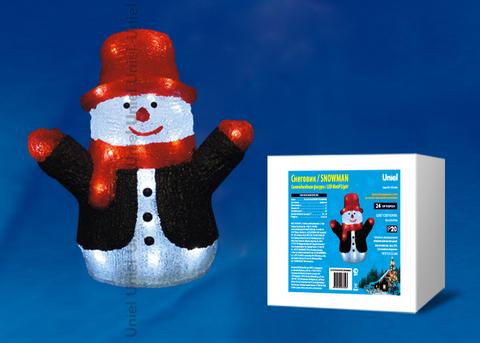 ULD-M2730-024/STA WHITE IP20 SNOWMAN Фигура светодиодная «Снеговик», 24 светодиода, 27*17*30 см, цвет свечения-белый, IP20.