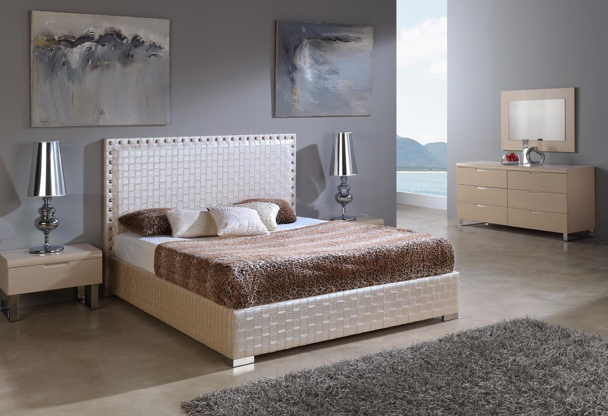 Кровать Dupen (Дюпен) 649 MANHATTAN, Тумба прикроватная DUPEN (Дюпен) М-106 мока