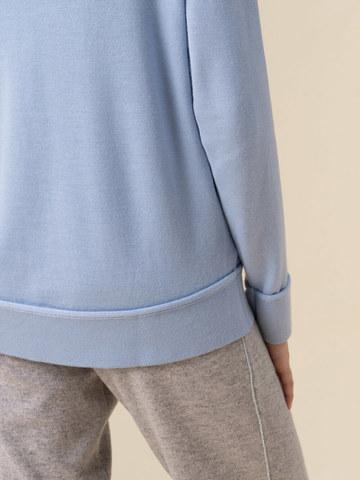 Женский джемпер голубого цвета из 100% кашемира - фото 4