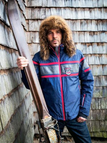 Мужская горнолыжная куртка Almrausch Staad 320103-1805 джинс