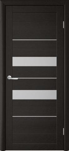 Дверь TrendDoors TDT-4, стекло белое матовое, цвет лиственница тёмная, остекленная