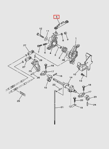 Связь  для лодочного мотора T40 Sea-PRO (16-5)