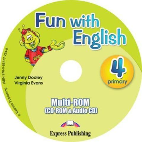 Fun with English 4.multi-ROM (CD-ROM & Audio CD ). Аудио CD/CD-ROM