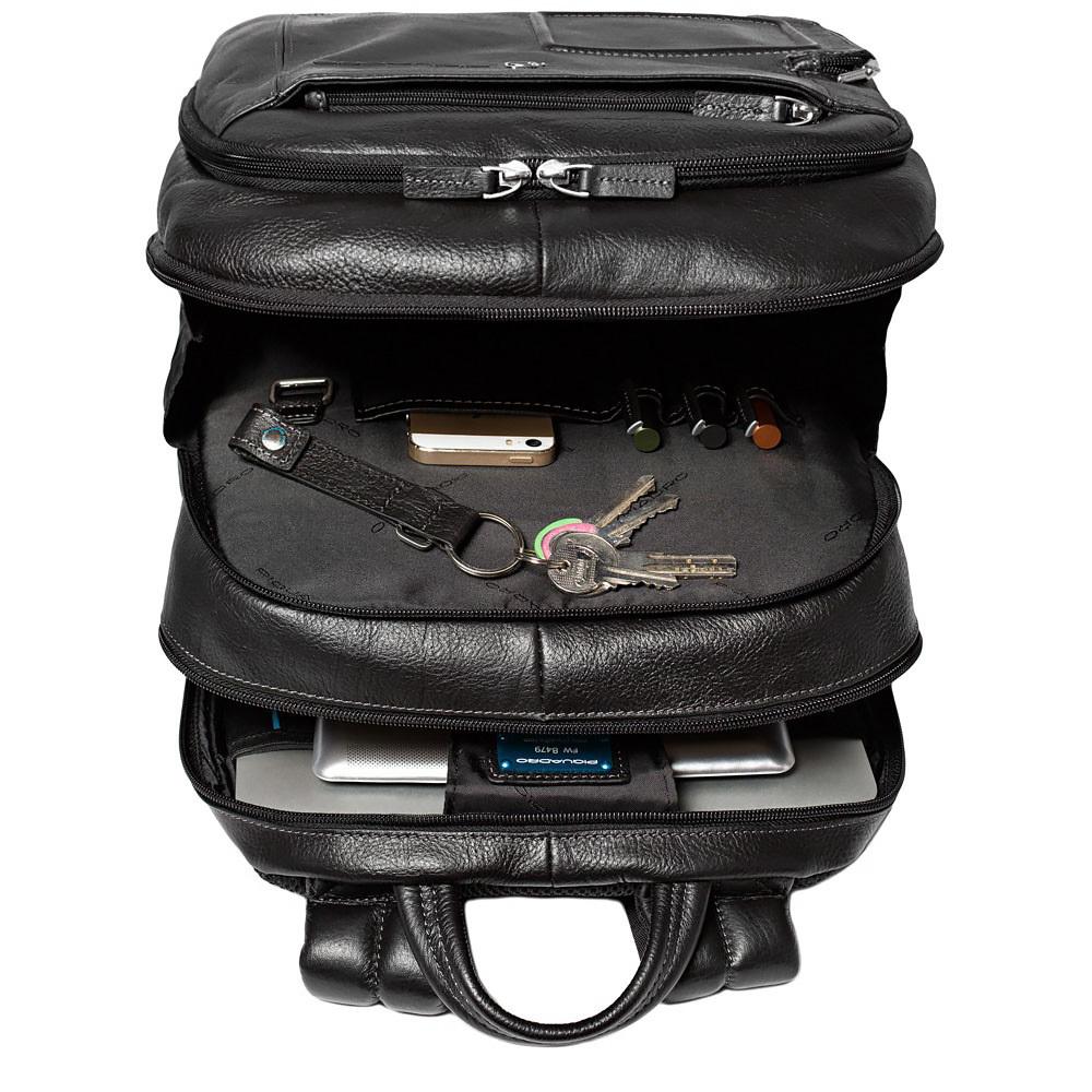 Рюкзак Piquadro Vibe, цвет черный,  31х42,5х18,5 см (CA1813VI/N)