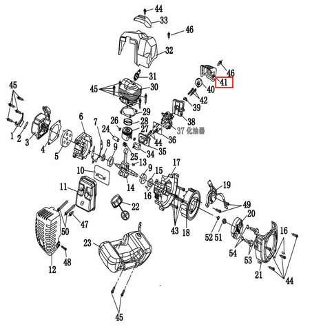 Задняя крышка воздушного фильтра  для лодочного мотора T2 SEA-PRO