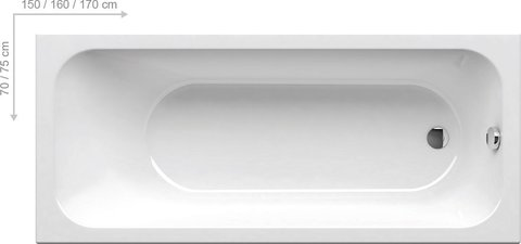 Акриловая ванна Ravak ROSA 150x95 L белая