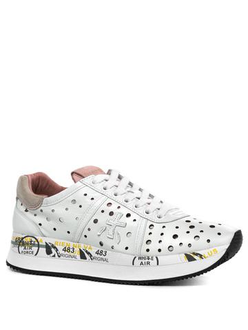 Кожаные кроссовки Premiata Conny 4728 с перфорацией