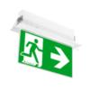 Световой указатель эвакуационный выход с рамкой для встраиваемого монтажа ONTEC-G TM Technologie