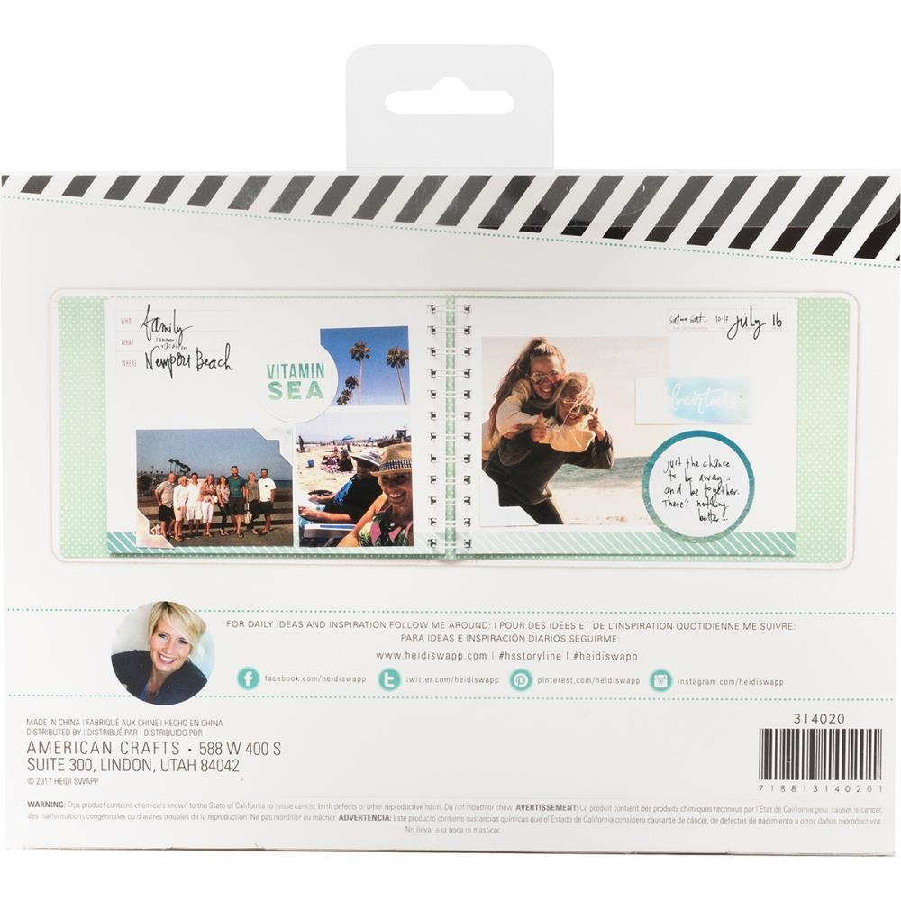 Альбом на пружине- Heidi Swapp Storyline2 Mini Spiral Album - 16,5х22 см