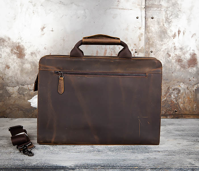BAG458-2 Мужской портфель из толстой кожи (под А4) фото 06