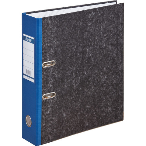 Папка с арочн.мех.BANTEX мрамор 1425-01, 70мм, синий