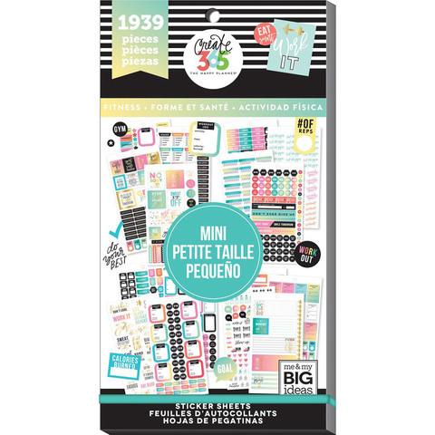 Блокнот со стикерами для ежедневника Create 365 Happy Planner Sticker Value Pack- FITNESS - 1939 шт