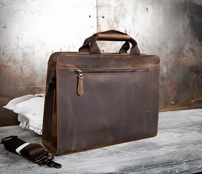 BAG458-2 Мужской портфель из толстой кожи (под А4) фото 07
