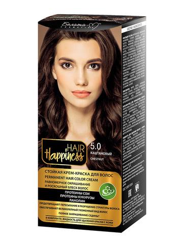 Белита-М Hair Happiness Крем-краска для волос аммиачная №5 светло-каштановый