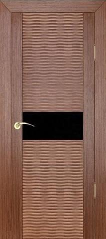 Дверь Zadoor D2Бриз, цвет орех, остекленная