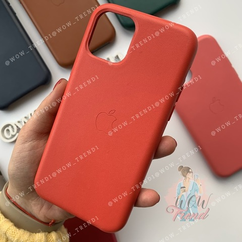 Чехол iPhone 11 Pro Leather Case /red/