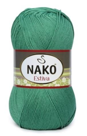 Пряжа Nako Estiva 11914 зеленый