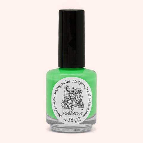 Kaleidoscope Лак для стемпинга №st-16 Green neon 15 мл
