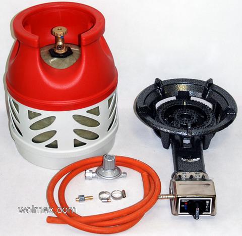 Комплект 43. Горелка газовая Wolmex CGS-8,5R1 с композитным баллоном и редуктором EN61 - V50