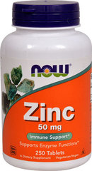NOW Foods Zinc -- 50 mg - 250 Tablets