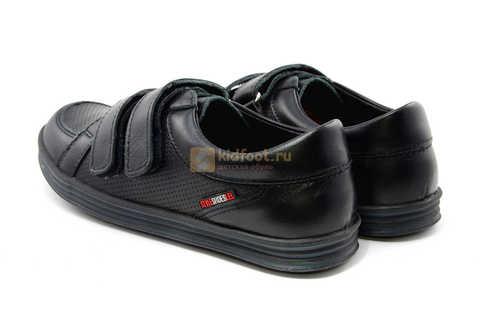 Ботинки на липучках для мальчиков Лель (LEL) из натуральной кожи цвет черный. Изображение 8 из 17.
