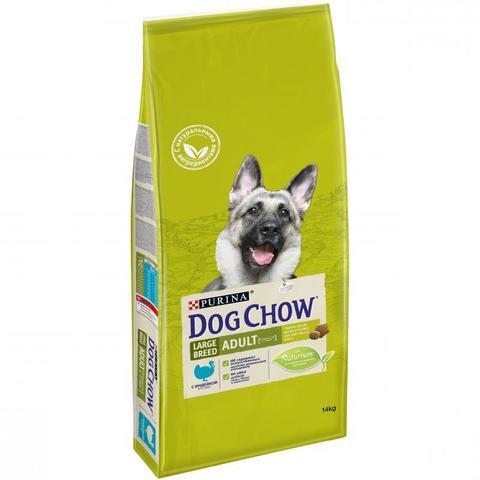 Dog Chow Adult Large Breed с индейкой для взрослых собак крупных пород 14 кг